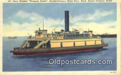 shi052160 - Ferry Steamer Hampton Roads Ferry Ship Postcard Post Card
