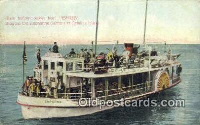 shi052177 - Glass Bottom Power Boat Empress, Catalina Island, California, CA USA Ferry Ship Postcard Post Card