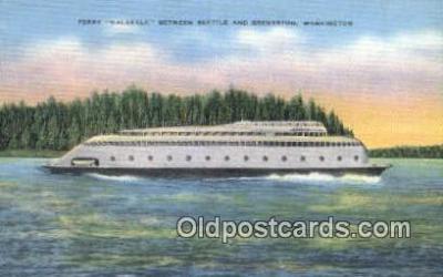 shi052180 - Ferry Kalakala, Bremerton, Washington, WA USA Ferry Ship Postcard Post Card