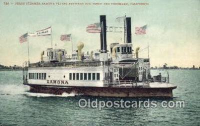 shi052187 - Ferry Steamer Ramona, Coronado, California, CA USA Ferry Ship Postcard Post Card