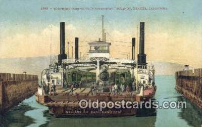 shi052189 - Southern Pacific Ferryboat Solano, Benicia, California, CA USA Ferry Ship Postcard Post Card