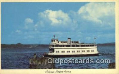 shi052202 - Astoria Megler Ferry, Washington, WA USA Ferry Ship Postcard Post Card