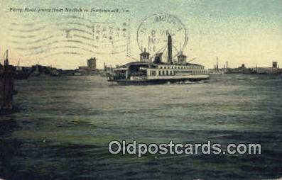 shi052204 - Ferry Boat, Portsmouth, Virginia, VA USA Ferry Ship Postcard Post Card