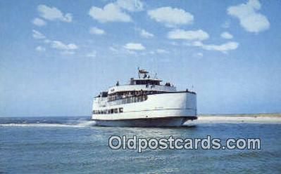shi052217 - Ocracoke Sea Level Atlantic Ferry, Ocracoke, North Carolina, NC USA Ferry Ship Postcard Post Card