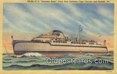 shi052250 - The SS Princess Anne Ferry Boat, Cape Charles, Virginia, VA USA Ferry Ship Postcard Post Card