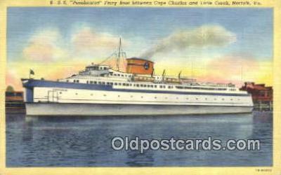 shi052253 - SS Pocahontas, Norfolk, Virginia, VA USA Ferry Ship Postcard Post Card