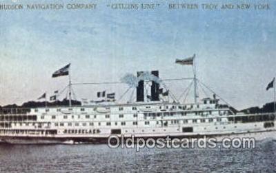 shi052263 - Citizens Line Ferry, Troy, NEW York, NY USA Ferry Ship Postcard Post Card