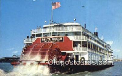 shi052265 - SS Delta Queen, Cincinnati, Ohio, OH USA Ferry Ship Postcard Post Card