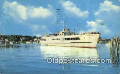 shi052273 - The Hyannis Nantucket Excursion Boat, Cape Cod, Massachusetts, MA USA Ferry Ship Postcard Post Card
