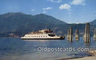 shi052278 - MV Anscomb, Nelson, British Columbia, BC  Ferry Ship Postcard Post Card