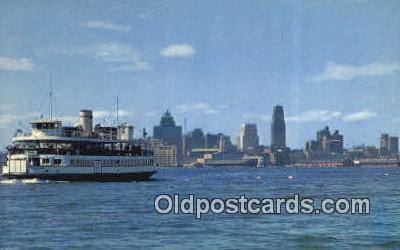 shi052280 - Island Ferry And Toronto Skyline, Toronto, Ontario, Canada Ferry Ship Postcard Post Card