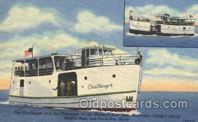 shi053013 - The Challenger and The Commuter of the Neuman Boat Line,Ohio,USA Ship Ships Postcard Postcards