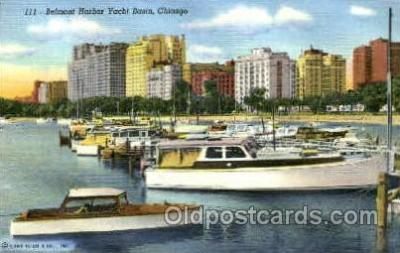 shi053031 - Belmont Harbor Yacht Basin, Chicago, Ill. USA Boat, Boats, Postcard Postcards