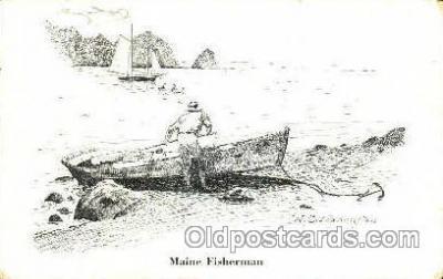 shi053035 - Maine Fisherman Boat, Boats, Postcard Postcards