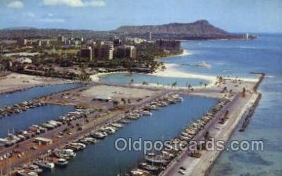 shi053051 - The Honolulu Yacht Harbor Ship Postcard Postcards