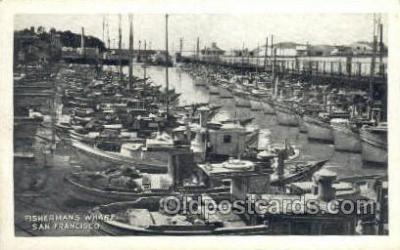shi053052 - San Francisco CA USA Fishermans Wharf Ship Postcard Postcards