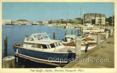 shi053057 - Oak Bluffs Harbor Ship Postcard Postcards