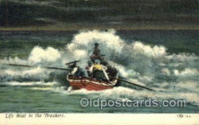shi053095 - Life Boat In The Breakers Ship Postcard Postcards