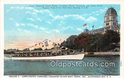 shi053108 - Maxine V Alexandria Bay, NY Ship Postcard Post Card