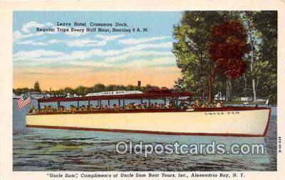 shi053109 - Uncle Sam Alexandria Bay, NY Ship Postcard Post Card
