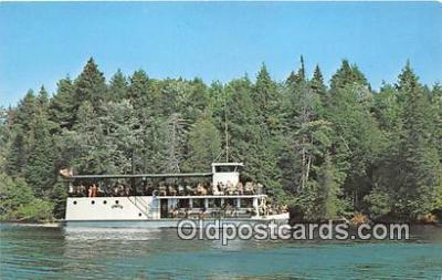shi053116 - New River Boat Hiawatha Tahquamenon River Ship Postcard Post Card