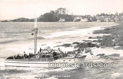 shi053120 - Depoe Bay Oregon Coast Ship Postcard Post Card