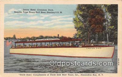 shi053122 - Uncle Sam Alexandria Bay, NY Ship Postcard Post Card