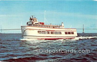 shi053128 - MV Harbor King San Francisco Bay Cruise Boats Ship Postcard Post Card