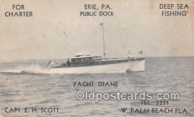 shi053132 - Yacht Diane W Palm Beach, Florida Ship Postcard Post Card