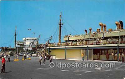 shi053141 - Billion Dollar St Lawrence River Seaway & Power Development Eisenhower Lock Ship Postcard Post Card