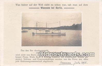 shi053145 - Fernlenkboot  Ship Postcard Post Card