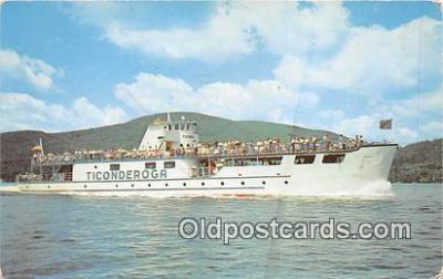shi053152 - MV Ticonderoga Lake George, NY Ship Postcard Post Card