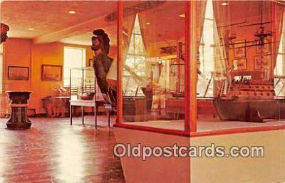 shi053160 - Figureheads, Ship Models Mystic, Connecticut Ship Postcard Post Card