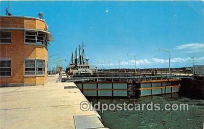 shi053166 - Billion Dollar St Lawrence River Seaway & Power Development Dwight D Eisenhower Lock Ship Postcard Post Card