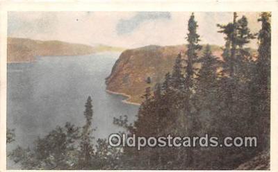 shi053167 - Pine Clad Cliffs Canada Steamship Lines Ship Postcard Post Card