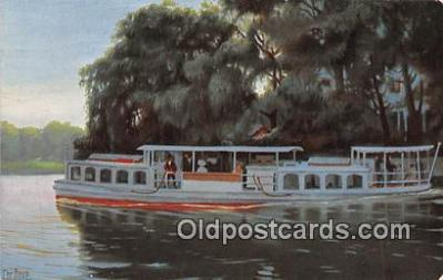 shi053179 - Dampfboot auf der Alster bei Winterhude  Ship Postcard Post Card
