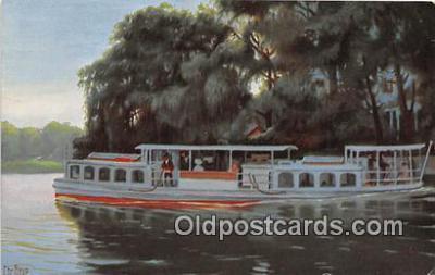 shi053180 - Dampfboot auf der Alster bei Winterhude  Ship Postcard Post Card
