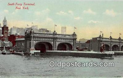 shi053185 - South Ferry Terminal New York USA Ship Postcard Post Card