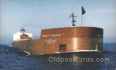 shi055008 - M.V. James R. Barker Freight Carrier, Carriers Ship Ships Postcard Postcards