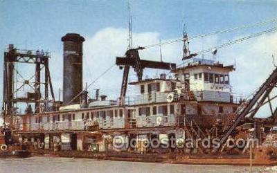 shi055015 - The Dredge Miami Freighters, Ship Postcard Postcards