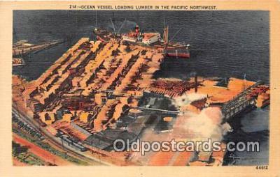 shi055040 - Ocean Vessel Pacific Northwest Ship Postcard Post Card