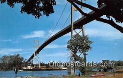 shi055046 - American Span of the Thousand Islands International Bridge Thousand Islands, NY Ship Postcard Post Card
