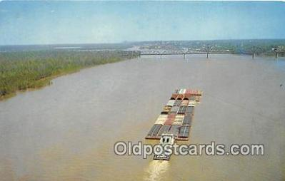 shi055047 - Towboat, Mississippi Ol' Man River Ship Postcard Post Card