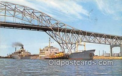 shi055056 - Harbor Bridge Corpus Christi, Texas USA Ship Postcard Post Card