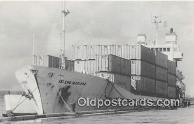 shi055062 - MV Island Mariana Guam Ship Postcard Post Card