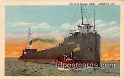 shi055064 - Ore Boat Ashtabula, Ohio USA Ship Postcard Post Card