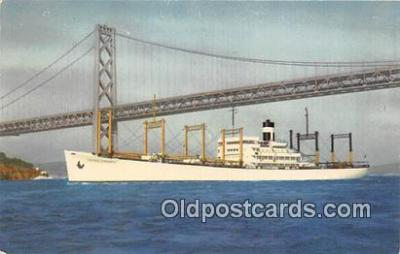 shi055069 - SS America Transport Outbound to the Orient Ship Postcard Post Card