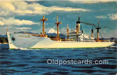shi055078 - SS Hong Kong Transport Japanese Waters, Sacred Mount Fuji Ship Postcard Post Card