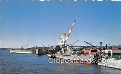 shi055085 - Bath Iron Works Bath, Maine Ship Postcard Post Card