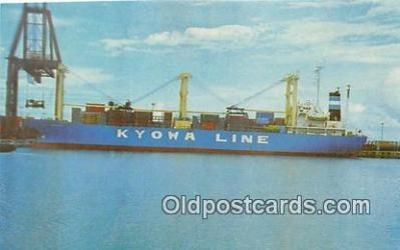 shi055088 - MS Kyowa Hibiscus Home Port Kobe, Japan Ship Postcard Post Card